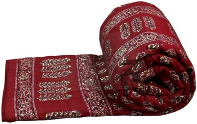 Sudharaj Floral Single Blanket Maroon