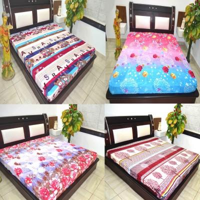 Manya Shop Printed Double Blanket Multicolor