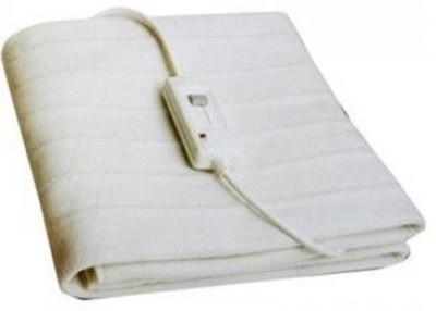 White Plain Single Electric Blanket Light White