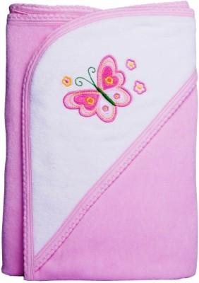 Manorath Plain Crib Blanket Pink
