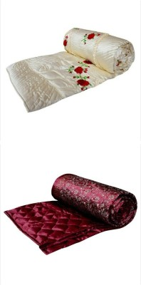 Chelsi Embroidered Double Quilts & Comforters Multicolor