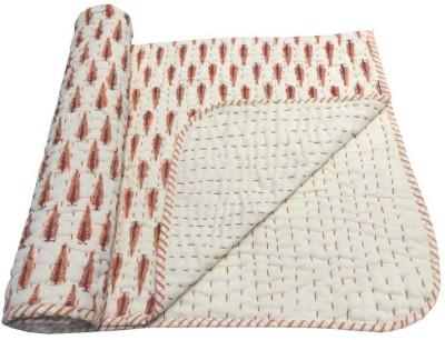 Kairan Jaipur Floral Crib Quilts & Comforters Peach, White
