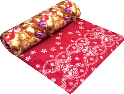 Indian Heritage Floral Double Blanket Red