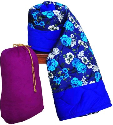 Artisan Creation Floral Single Quilts & Comforters Blue