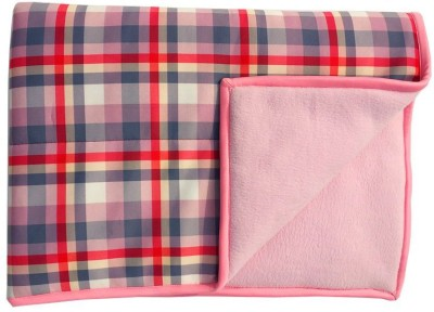 Wobbly Walk Checkered Single Blanket Baby Pink