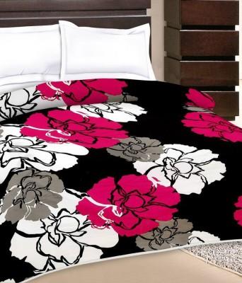 Razaiwala Floral Single Dohar Black