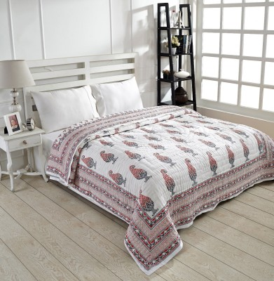 Ratan Jaipur Paisley Double Quilts & Comforters Red