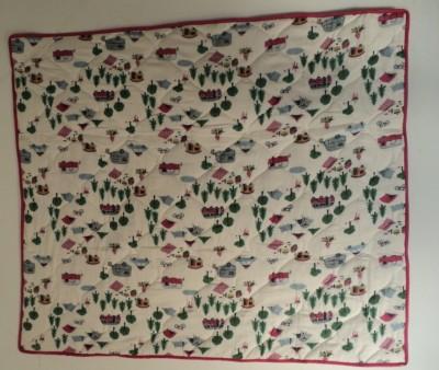 Jdprints Floral Single Quilts & Comforters White