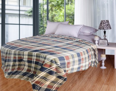 Coverlet Checkered Double Blanket Multicolor