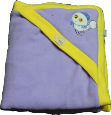 Just Pinto's Checkered Single Blanket Yellow, Purple