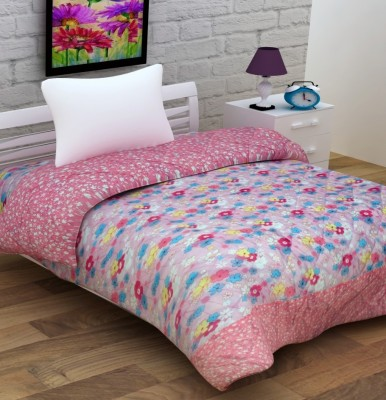 Enfin Homes Floral Single Quilts & Comforters Pink
