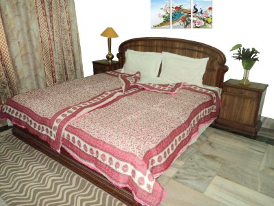 Amita Home Furnishing Floral Single Quilts & Comforters Pink
