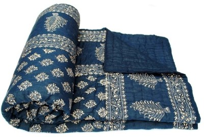 Style and Fashion Floral Double Quilts & Comforters Blue