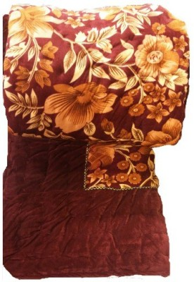 Xhomex Printed Double Quilts & Comforters Maroon