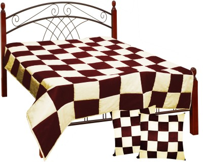 Zikrak Exim Checkered King Quilts & Comforters Blue, Light Blue