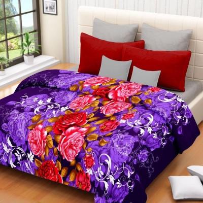 Nakoda Floral Single Dohar Purple, Red