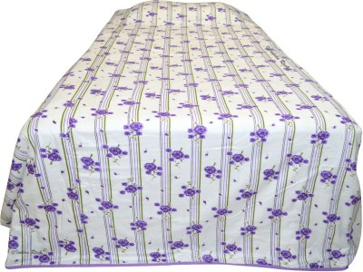 Indian Rack Floral Single Dohar, Quilts & Comforters White, Purple