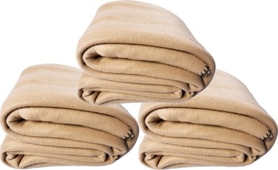 Kema Plain Single Blanket Beige