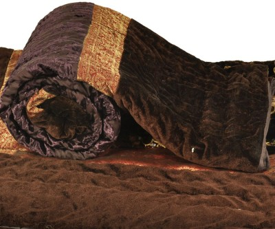 Kiran Udyog Floral Single Quilts & Comforters Brown