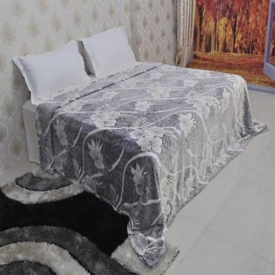 Welhouse India Striped Double Blanket Grey