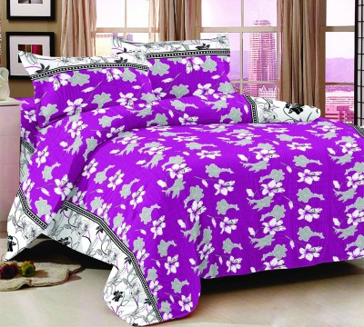 Trance Home Floral Queen Quilts & Comforters Purple