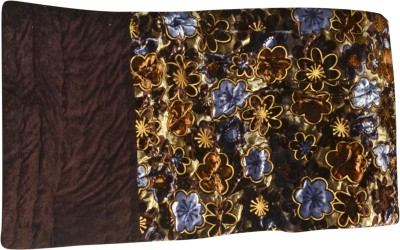 Raj Amer Craft Floral Double Quilts & Comforters Brown
