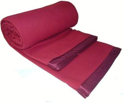Peponi Plain Single Blanket Red