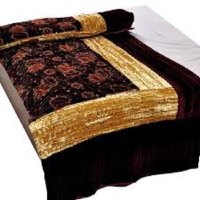 TEX N ART Floral King Quilts & Comforters BROWN AND CREAM