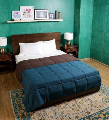 Bombay Dyeing Plain Single Quilts & Comforters Green, Brown