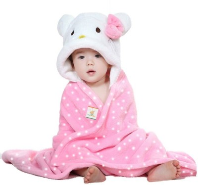 Ole Baby Plain Single Blanket Pink