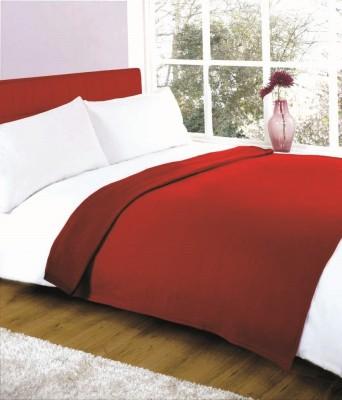 Shiv Fabs Plain Double Blanket Maroon