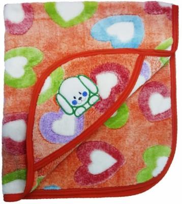 Brandonn Polka Single Hooded Baby Blanket Orange
