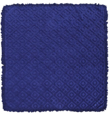 Saral Home Geometric Double Blanket Navy Blue
