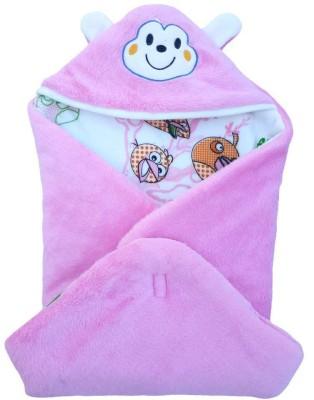 Brandonn Printed Single Blanket Pink