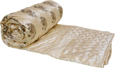 OM PRINTS Self Design Double Quilts & Comforters White