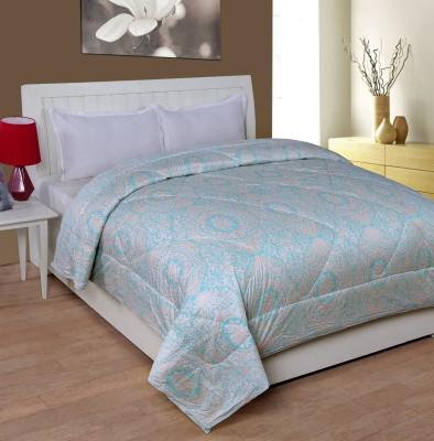 Shivalik Paisley Double Quilts & Comforters Light Blue