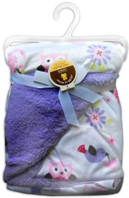 Carter Printed Single Blanket purple white