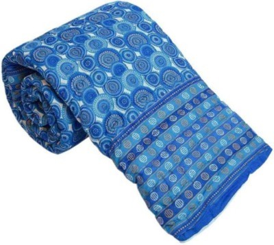 Monil Floral Double Quilts & Comforters Blue
