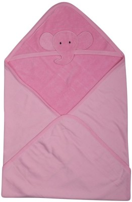 Morisons Baby Dreams Animal Single Hooded Baby Blanket Pink