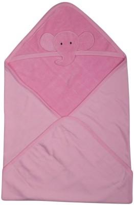 Morisons Baby Dreams Animal Single Hooded Baby Blanket Pink