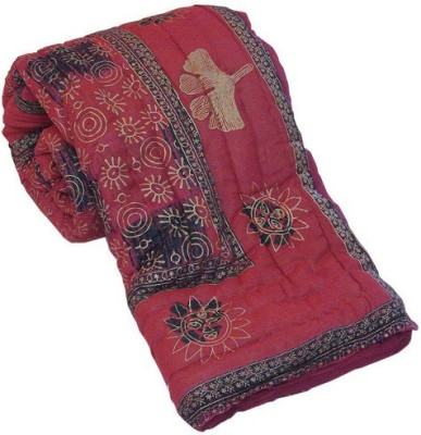 Bagrastore Floral Double Quilts & Comforters Red