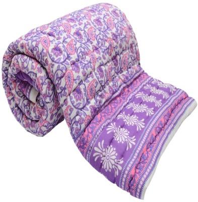 Monil Floral Double Quilts & Comforters Purple