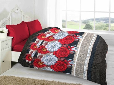 Fabutex Floral Double Quilts & Comforters Red