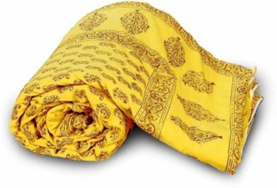 Monil Floral Single Quilts & Comforters Yellow