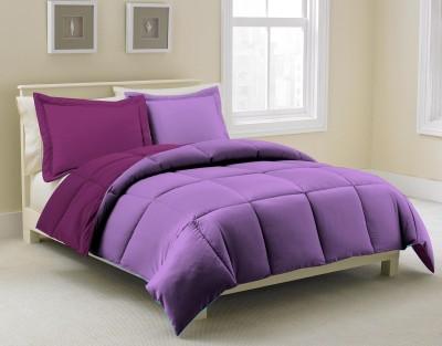 KIAANA USA Plain Double Quilts & Comforters Lavender, Purple