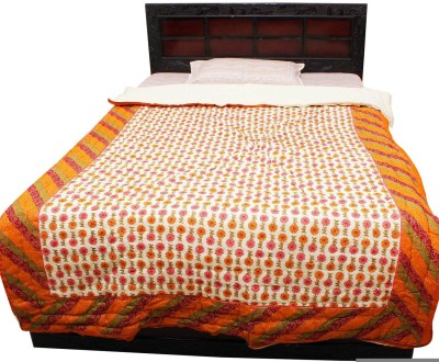 Halowishes Paisley Single Quilts & Comforters Creami Orange