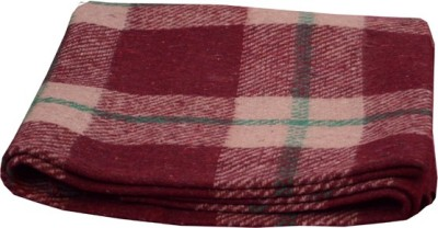 Magical Checkered Single Blanket Maroon