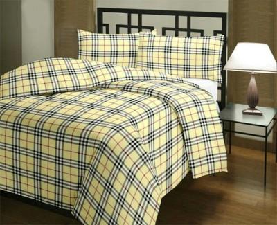 N decor Checkered Double Dohar Multicolor