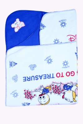 Madhavs Cartoon Crib Blanket Dark Blue