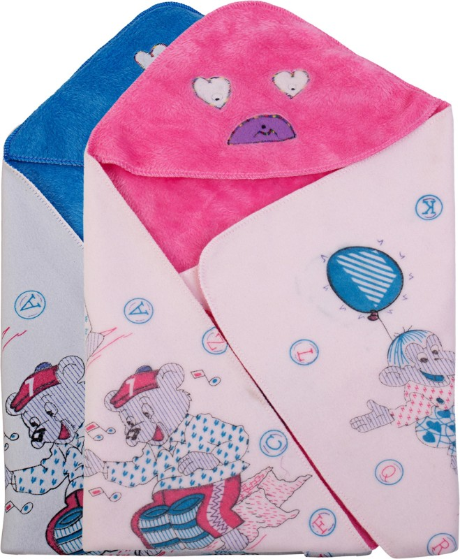 Utc Garments Cartoon Single Blanket Pink, Blue, White(2 Blankets)